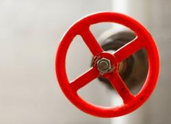 Red emergency shutoff valve