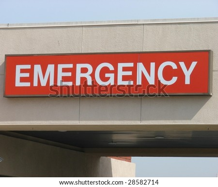 Red Emergency Sign