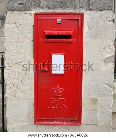Red English postbox