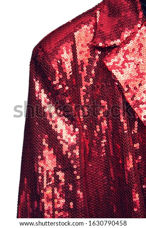 Red entertainer jacket on white