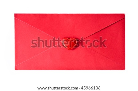 red envelope is sealed by a heart