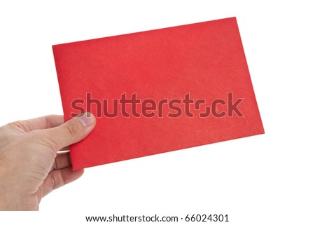 red Envelope with white background