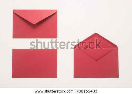 Red envelopes on white background  - Shutterstock ID 780165403
