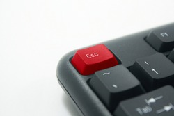 red Esc keyboard button