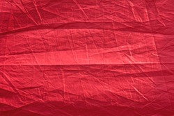 Red fabric abstract background.