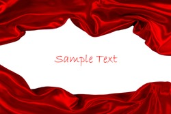 red fabric isolated on white