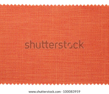 Red fabric swatch samples texture - stock photo