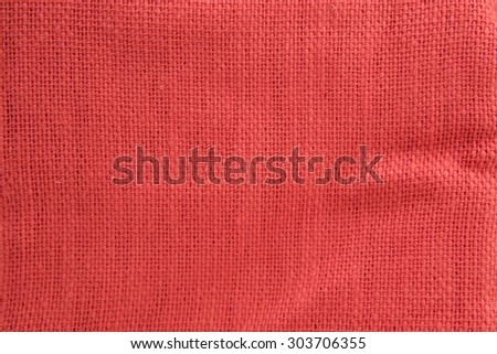 Red fabric texture for background. Texture sack sacking country background