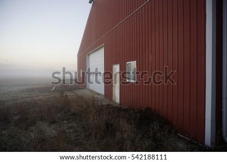 red farm building