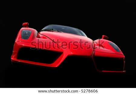 stock photo : Red Ferrari car