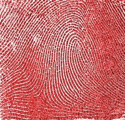 Red fingerprint as background