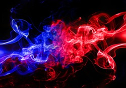 red fire and blue fire background
