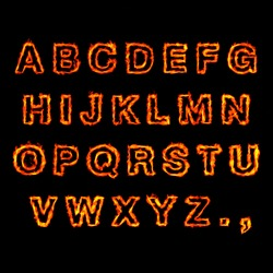red Fire Font