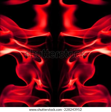 red fire light