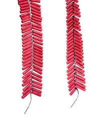 Red Firecrackers isolated on white background with clipping path.