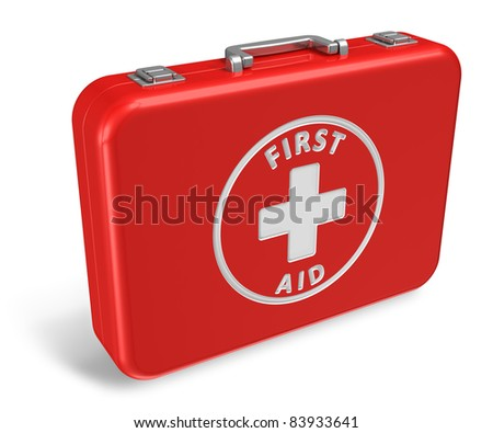 Red first aid case