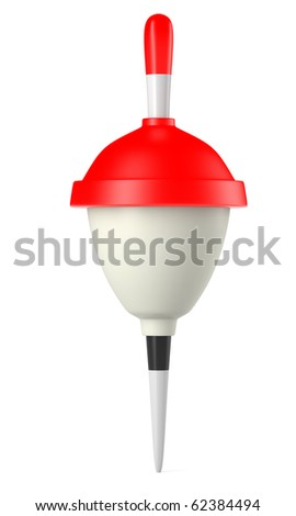 Red fishing float isolated on white background