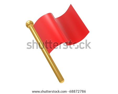 red flag isolated on a white background
