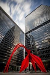 Red Flamingo Sculpture in Chicago