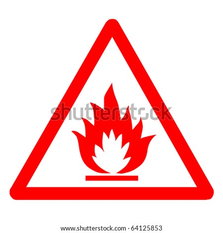 Red flammable sign