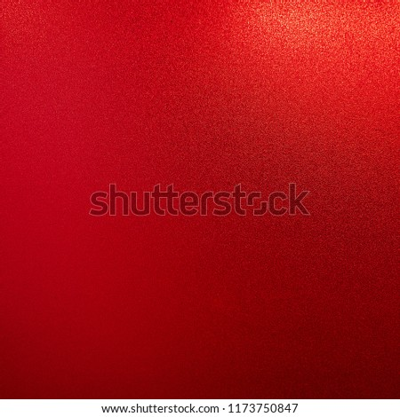 Red foil background texture and black shiny shimmer metal wall, with glitter and sparkle for christmas paper card and paillette glow or glamour dark color, Abstract bright light or sequin material. #1173750847