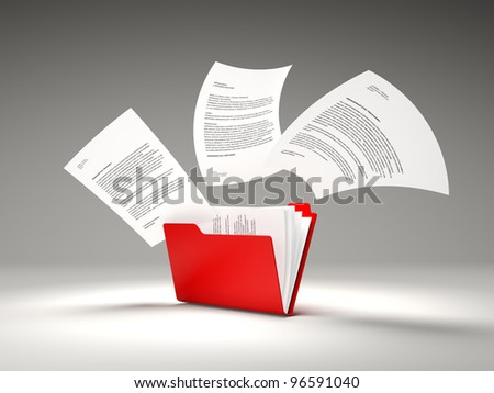 Red folder with files