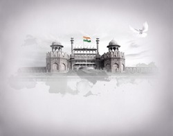 RED FORT DELHI INDIA INDEPENDENCE DAY REPUBLIC DAY FREEDOM OF INDIA