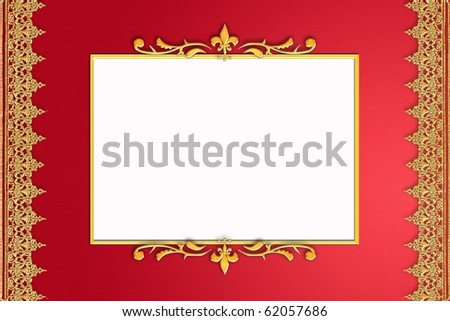 Red frame with golden ornament