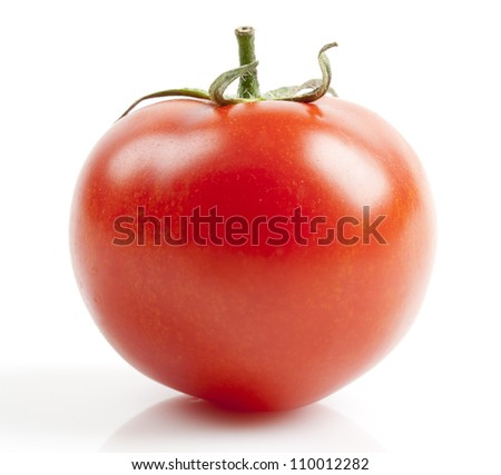 Red fresh tomato isolated on white background. - stock photo