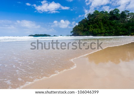 Red Frog beach Bastimentos Island Bocas Del Toro Panama