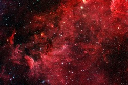 Red galaxy. Elements of this image furnished by NASA.