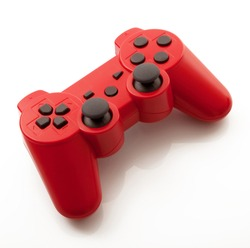 red Game Joystick isolated on a white background