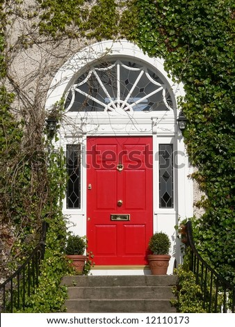 Red Georgian Door