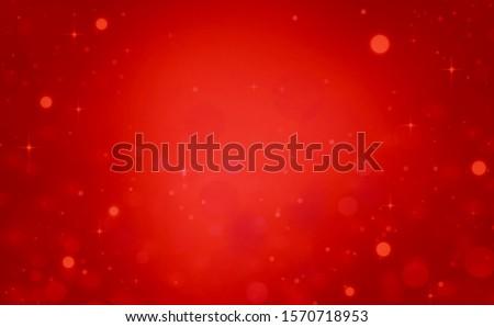 Red glitter christmas lights background. wallpaper blurred