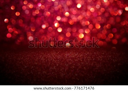 Red glitter vintage lights background. #776171476