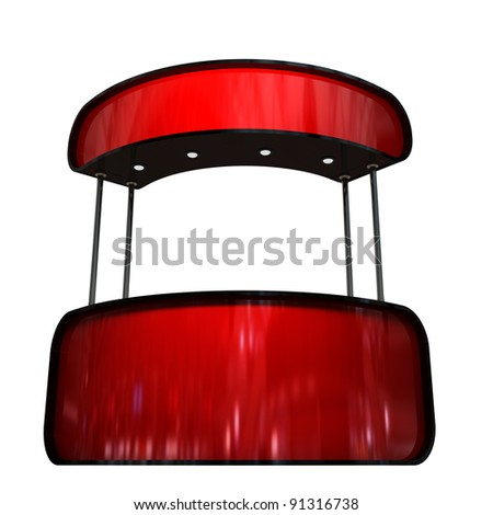 red glossy counter