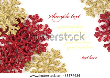 Red&golden snowflake card