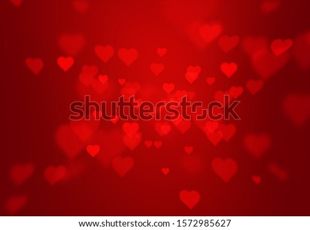red gradient abstract background with heart shape texture for valentine and christmas. stock photo