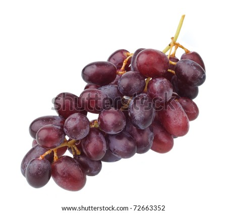 red grape isolated on clean white