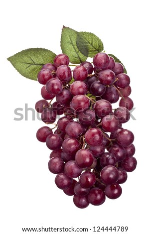 Red grapes isolated on white - stock photo