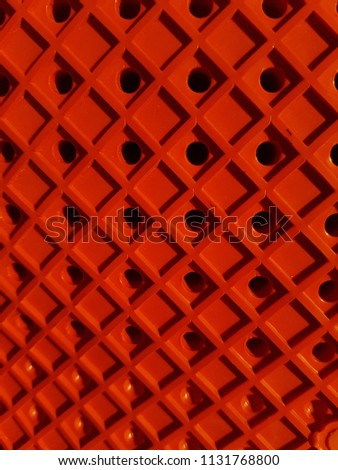 Red grid, lines in the form of a square. Pattern background, texture. #1131768800