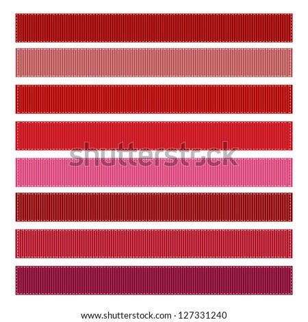 Red Grosgrain Ribbon Textures Illustration