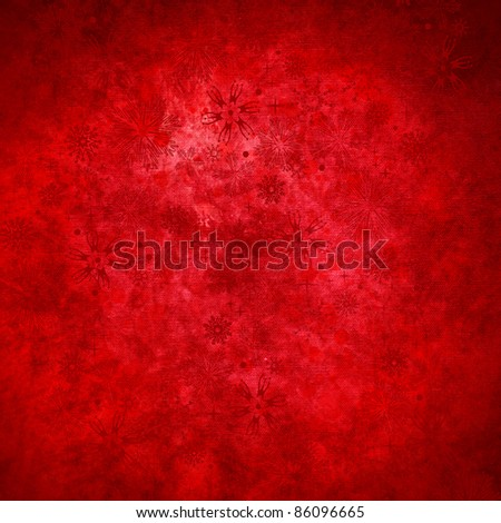 red grunge christmas background - stock photo