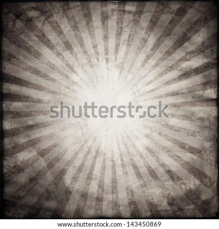 Red Grunge Texture Background With Sunburst