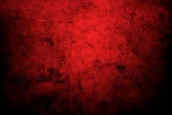 Red grunge textured wall background