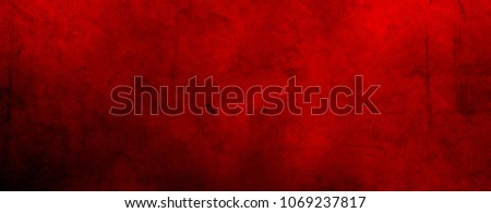 Red grunge textured wall background #1069237817