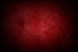 Red grunge textured wall, dark edges