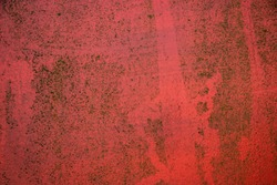 Red grunge ugly dirty rough vintage paint texture wall surface background texture