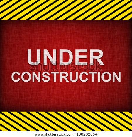 Red Grunge Under Construction Sign