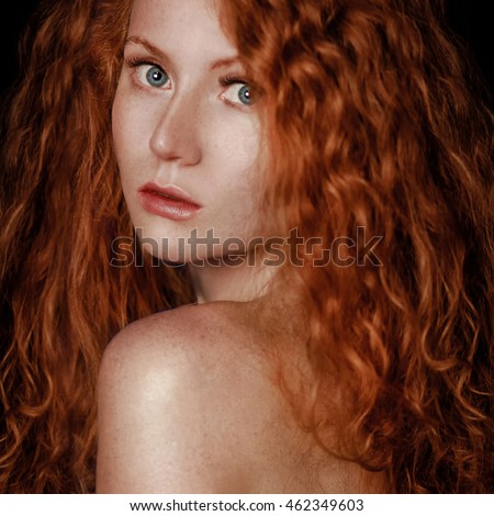 Only reserve, girl portrait redhead